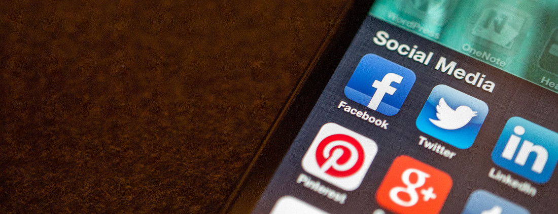 A close up of a smart phone with social media apps